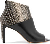 Maison Margiela Snake-effect and smooth leather sandals