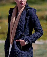 Weatherproof Women's Non-Denim Casual Jackets CLASSIC - Classic Navy Quilted Hooded Parka - Women
