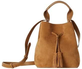 Gerard Darel Mini Saxo Leather Shoulder Bag, Camel