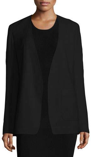 Alexander Wang Crepe Open-Front Blazer