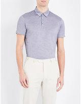 Corneliani Brand-logo Cotton-piqué Polo Shirt