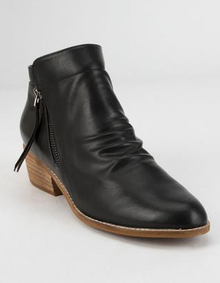 BEAST FASHION Side Zip Black Womens Booties