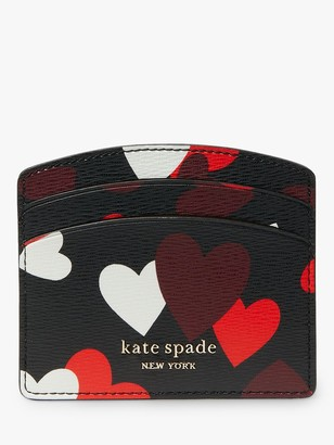 Kate Spade Hearts Card Holder, Black