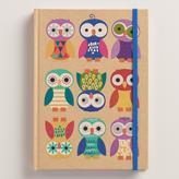 Cost Plus World Market Birthday Owls Kraft Journal