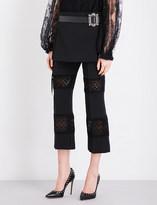 Alexander McQueen Pleated wool mini skirt