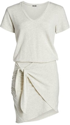 Monrow Soft Tie T-Shirt Dress