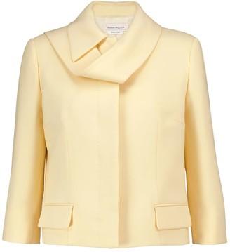 Alexander McQueen Wool and silk-blend jacket