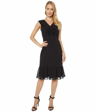 Sam Edelman Women's Sleeveless Pleat Neckline Dress