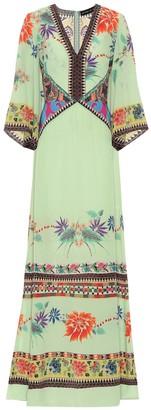Etro Printed silk-georgette gown