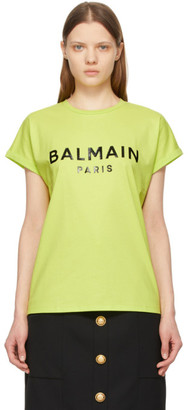 Balmain Green Logo T-Shirt