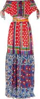 D&G Off-the-shoulder printed silk-chiffon maxi dress