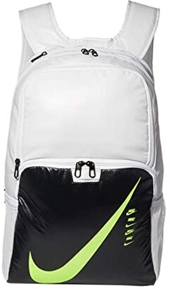 Nike Brasilia XL Backpack - 9.0 (Photon Dust/Dark Smoke Grey/Ghost Green) Backpack Bags