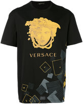 Versace logo print T-shirt - men - Cotton - M