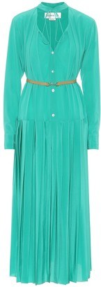 Victoria Beckham Pleated silk midi dress