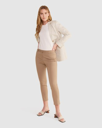 Sportscraft Women's Brown Capris - Evie Capri Pants - Size One Size, 6 at The Iconic