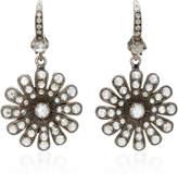 Nam Cho 18K White Gold Diamond Earrings