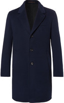 Caruso Butterfly Slim-fit Unstructured Wool And Cashmere-blend Overcoat - Navy