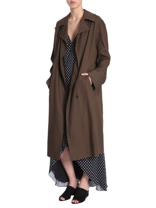 Haider Ackermann Trench Coat With Raglan Sleeves