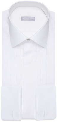 Stefano Ricci Men's Swarovski Hidden-Placket Formal Dress Shirt