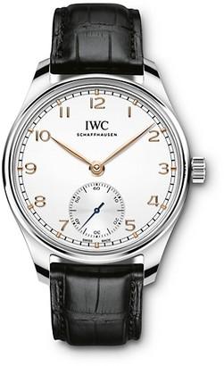 IWC Portugieser Stainless Steel & Alligator Strap Watch