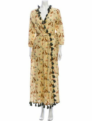 Rhode Resort Floral Print Long Dress Yellow Floral Print Long Dress