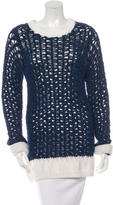Chloé Open Knit Colorblock Sweater w/ Tags