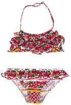 Dolce & Gabbana Mambo print bikini - kids - Polyamide/Spandex/Elastane - 8 yrs