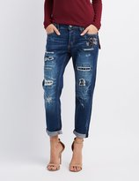 Charlotte Russe Cello Distressed Patchwork Jeans