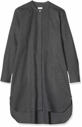 Seidensticker Women's Kleid Langarm Modern Fit Flanell Uni-100% Baumwolle Dress