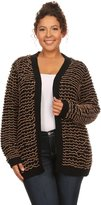 Hadari Women's Plus Size Casual Open Front Cardigan