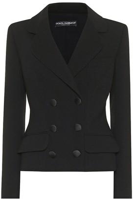 Dolce & Gabbana Cropped stretch-wool blazer
