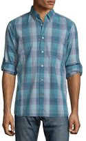 John Varvatos Check Roll-Tab Sport Shirt, Blue Topaz