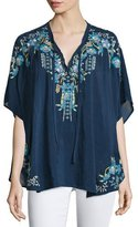 Johnny Was Hope Embroidered Poncho, Plus Size