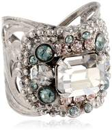 "Sorrelli Crystal Rock"" Studded Crystal Band Ring"