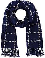 Barneys New York WOMEN'S WINDOWPANE-CHECKED SCARF