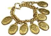 Chanel Gold-Tone Metal Coco Mark CC Logo Chain Bracelet