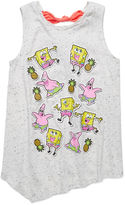 SpongeBob Squarepants Sponge Bob Stickers Tank Top - Preschool Girls 4-6x