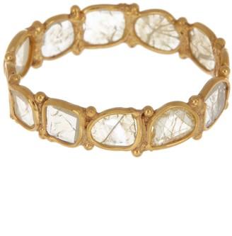 Forever Creations Usa Inc. 18K Gold Vermeil Sliced Diamond Ring - 1.5 ctw
