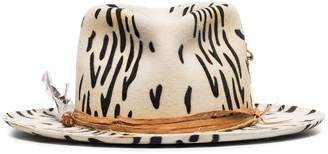 Nick Fouquet Zeal zebra-print wool-felt hat