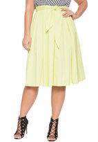 ELOQUII Plus Size Tie Waist Skirt