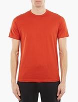 Sunspel Red Cotton T-Shirt