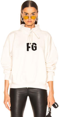 Fear Of God Mock Neck 'FG' Pullover in Cream | FWRD