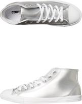 Converse Womens Chuck Taylor All Star Hi Shoe Silver