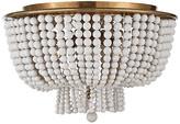 AERIN Jacqueline Flush Mount - Antiqued Brass/White