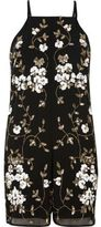 River Island Womens Black and gold embellished romper