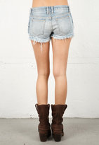 Current/Elliott Frayed Boyfriend Short in Rapid Water -