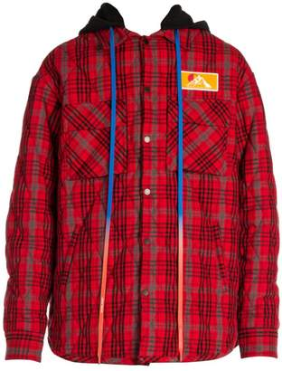 Off-White Off White Flannel Overshirt Jacket