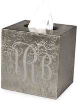 Mike and Ally Mike & Ally Eos Monogram Boutique Tissue Box, Silver