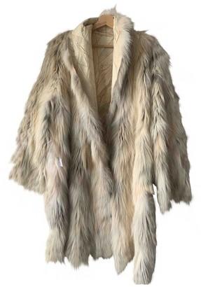 Celine Beige Fur Coat for Women Vintage