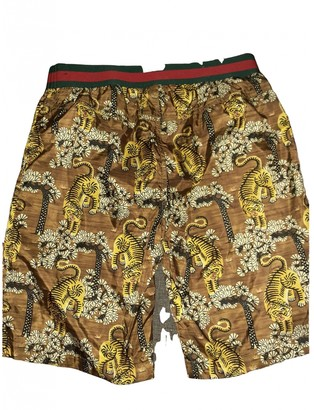 Gucci Brown Polyester Shorts